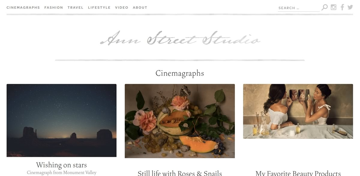 Web Design Trends - Cinemagraphs
