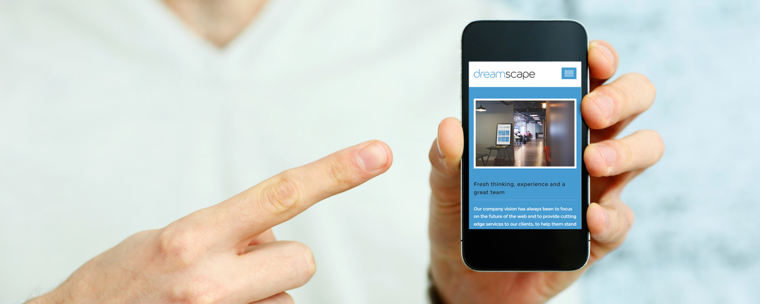 Mobile first approach to responsive web design